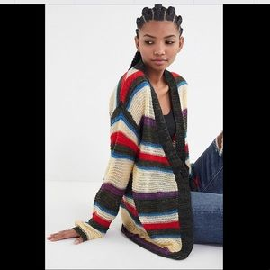 UO Eternal Sunshine Striped Cardigan - M